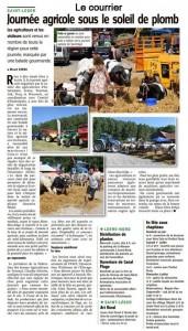 Journée agricole Le Courrier