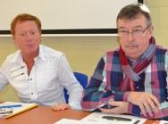Daniel Senesael, Député-Bourgmestre d'Estaimpuis, et Christian Hollemaert, Echevin des Finances